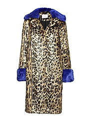 Jackie fake fur coat - LEO MIX