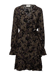 Naila wrap dress - CAMOUFLAGE