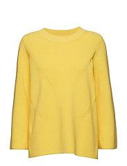 Lison o neck knit - PALE YELLOW