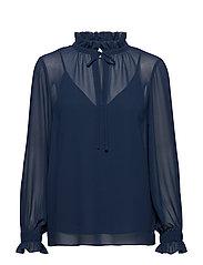 Jose blouse - BLUE IRIS