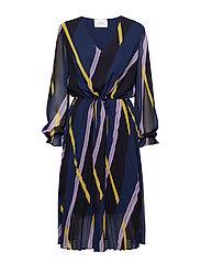 Gala dress - DIAGONAL AOP