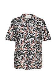 Carol shirt - WILD FLOWER WHITE