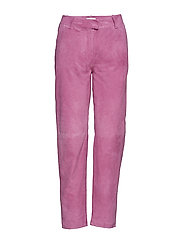 Came suede trousers - IRIS ORCHID