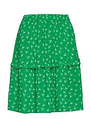 Elvira skirt - GREEN BIRD AOP