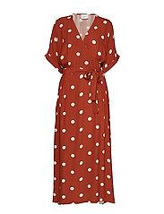 Caia dress - BARN RED POLKA DOT AOP