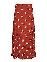 Caia skirt - BARN RED POLKA DOT AOP