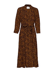 Coca wrap dress - BROWN ANIMAL