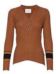 Vindis knit blouse - PUMPKIN SPICE COMB.