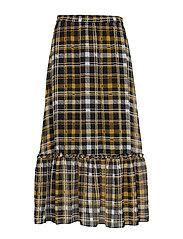 Brix maxi skirt - KAREN CHECK AOP