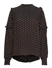 Musette blouse - DOT AOP