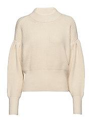Sophie high neck knit - ANTIQUE WHITE