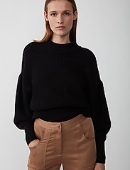 Just Female - Sophie high neck knit - tröjor - black - 0