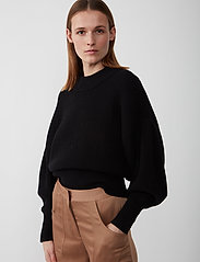 Just Female - Sophie high neck knit - tröjor - black - 5