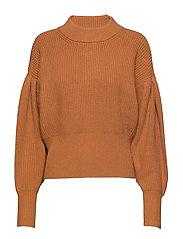 Sophie high neck knit - PUMPKIN SPICE