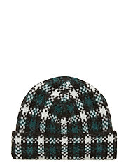 Harper knit hat - HARPER GREEN CHECK AOP
