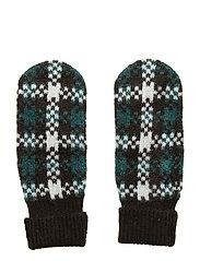 Harper knit mittens - HARPER GREEN CHECK AOP