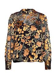 Mirador blouse - GOLDEN FLOWER AOP