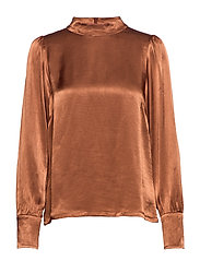Shea blouse - WARM BROWN