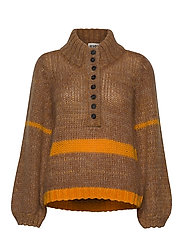 Dolly high neck knit - NATURE COMBO