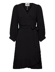 Ellery wrap dress - BLACK