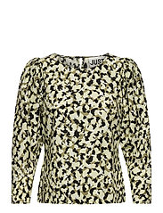 Nellie blouse - BLURRED CAMO AOP