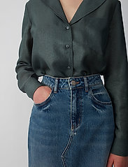 Just Female - Mae shirt - long sleeved blouses - balsam green - 5
