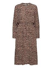Virginia dress - SKETCHY IKAT AOP
