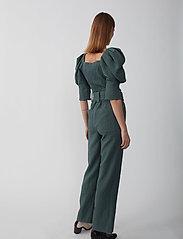Just Female - Bonnie trousers - bukser med brede ben - balsam green - 3