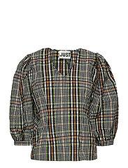 Ethel blouse - CLOVER CHECK