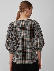 Just Female - Ethel blouse - långärmade blusar - clover check - 3