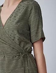 Just Female - Alvina wrap blouse - short-sleeved blouses - clover - 4