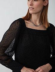 Just Female - Lula maxi dress - midi dresses - black - 4