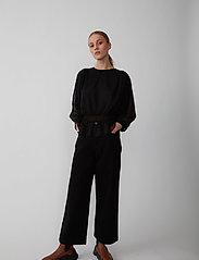 Just Female - Lula blouse - long sleeved blouses - black - 3