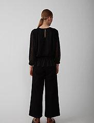 Just Female - Lula blouse - long sleeved blouses - black - 4