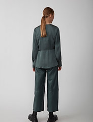 Just Female - Minnie blouse - long sleeved blouses - balsam green - 3