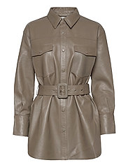 Paso belted shirt - GREY
