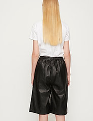 Just Female - Paso leather bermuda - leather shorts - black - 6