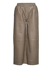 Roy leather trousers - GREY