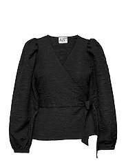 Toda wrap blouse - BLACK