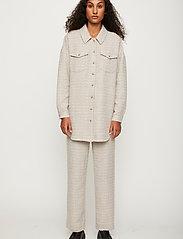 Just Female - Metz shirt - overshirts - ice grey stone mix - 0
