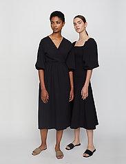 Just Female - Oakville wrap dress - midi dresses - black - 3
