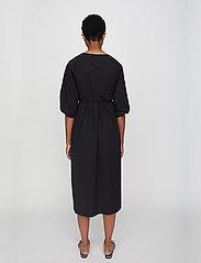 Just Female - Oakville wrap dress - midi dresses - black - 4