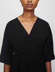 Just Female - Oakville wrap dress - midi dresses - black - 5