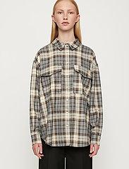 Just Female - Pisa Shirt - clothing - stone check - 0