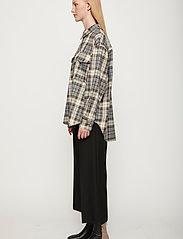 Just Female - Pisa Shirt - clothing - stone check - 4