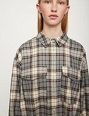 Just Female - Pisa Shirt - clothing - stone check - 5