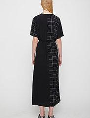 Just Female - Halle maxi wrap dress - everyday dresses - half check aop - 5