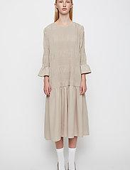 Just Female - Etienne dress - midi dresses - cobblestone - 0