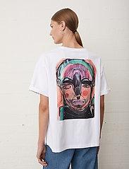 Just Female - Sjulle tee - t-shirt & tops - white - 0