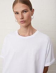 Just Female - Sjulle tee - t-shirt & tops - white - 5